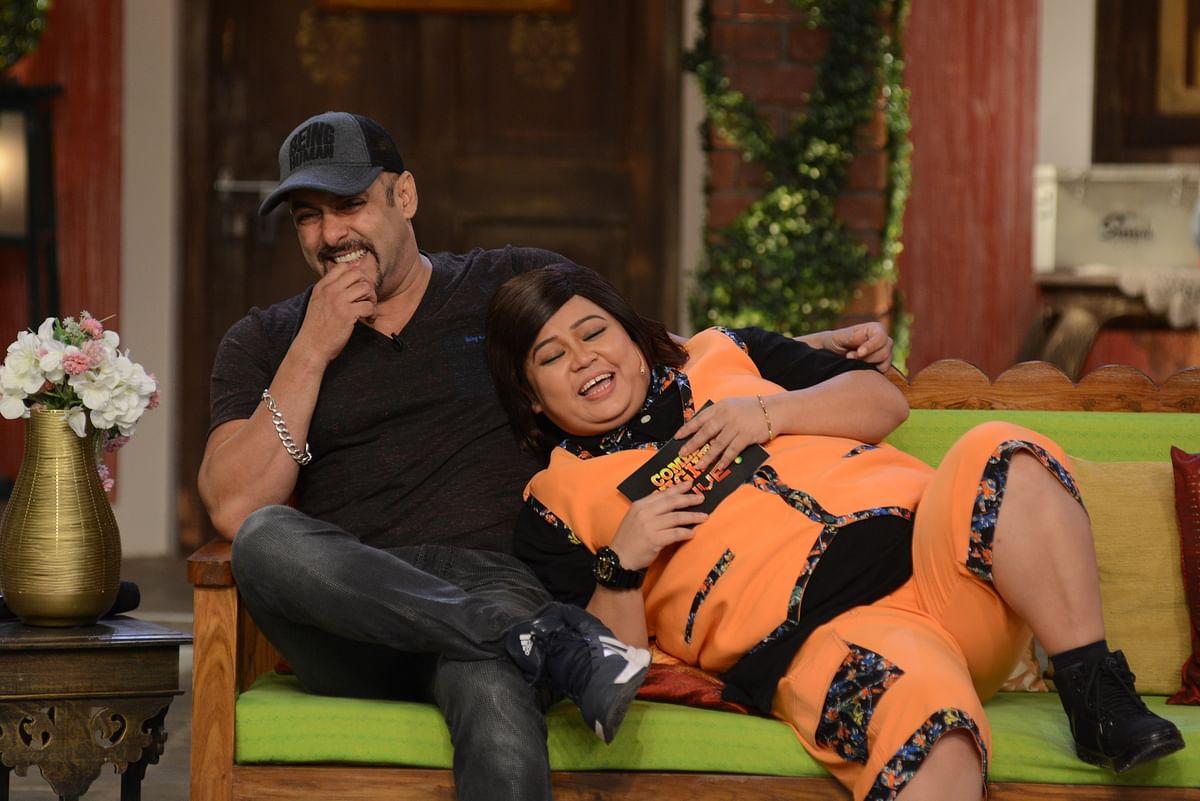 Salman Khan and Bharti Singh share a laugh. (Photo Courtesy: Colors PR Team)