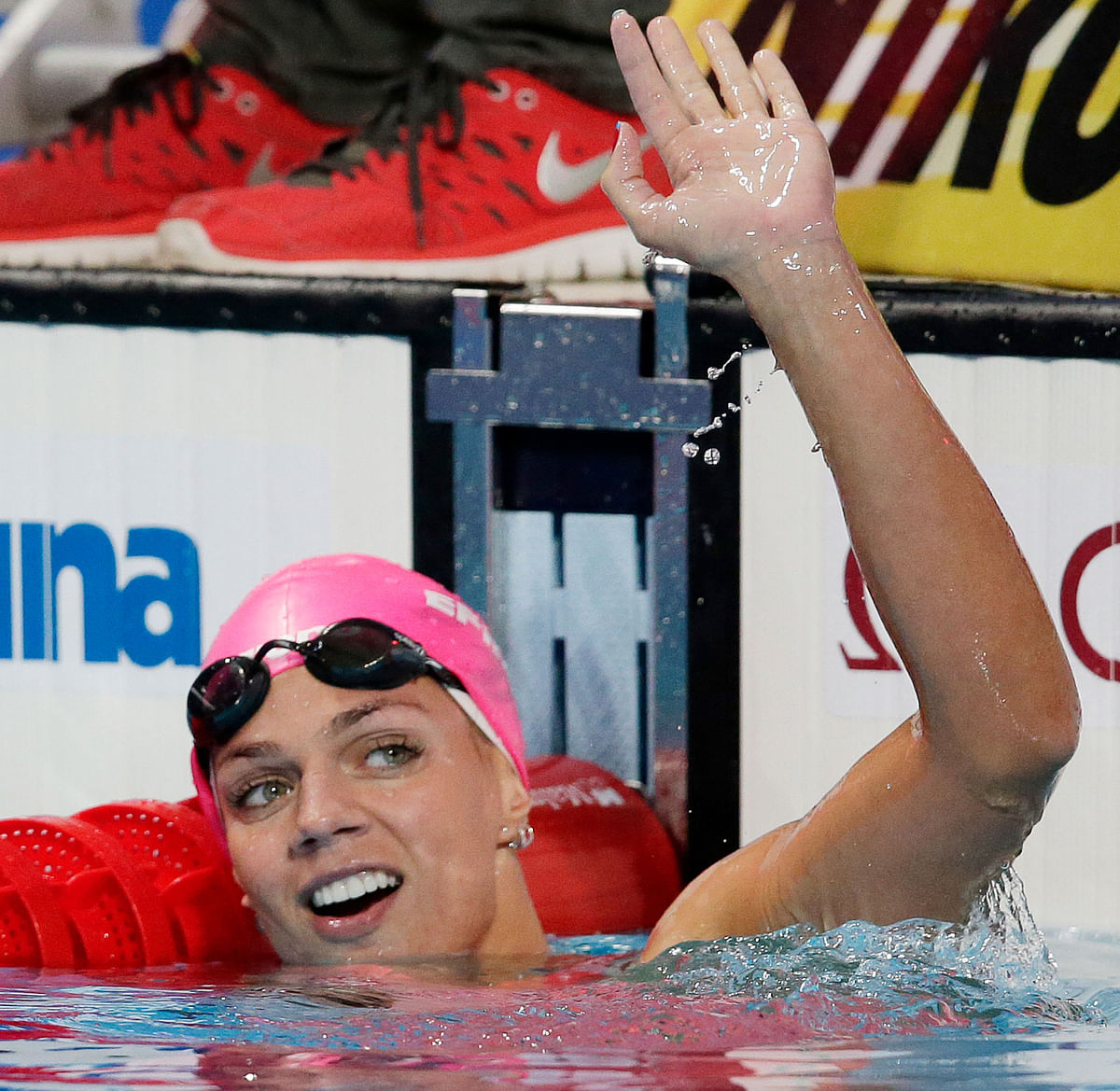 File photo of Russia's Yulia Efimova after she won the  women's 100m breaststroke final at the Swimming World Championships in 2015. (Photo: AP)