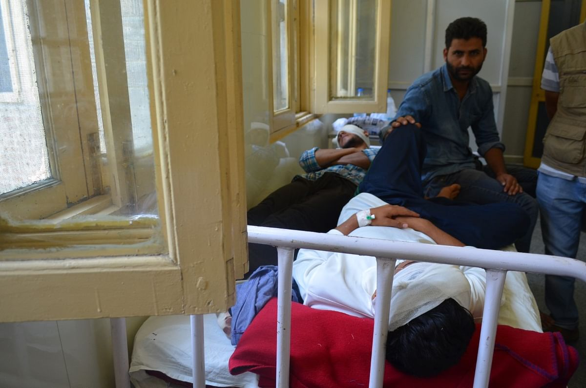 The wards in SMHS are full of bullet and pellet gun related injuries. (Photo: Pradeepika Saraswat)