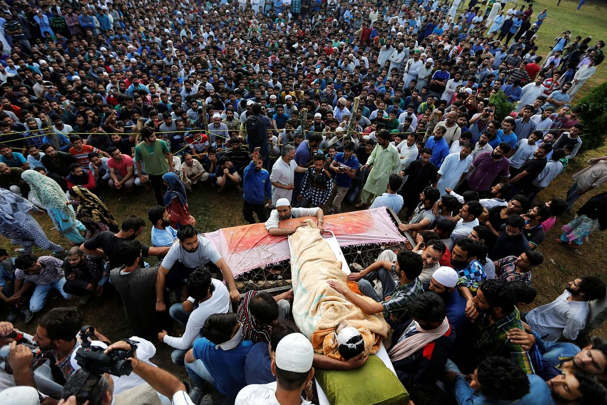 Violence started after Burhan Wani's funeral on Saturday. (Photo: Reuters)