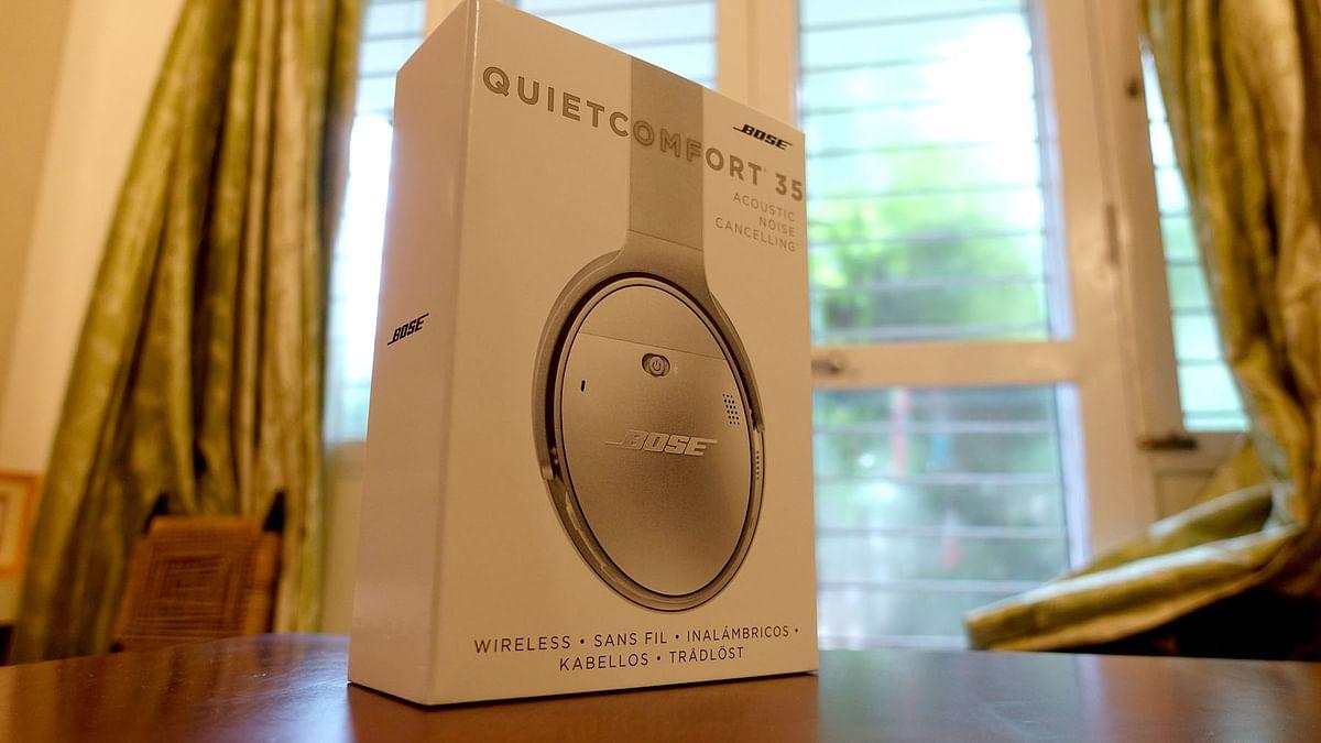 "Bose QC 35 Packaging  (Photo: <b>The Quint</b>/<a href=""https://twitter.com/2shar"">@2shar</a>)"