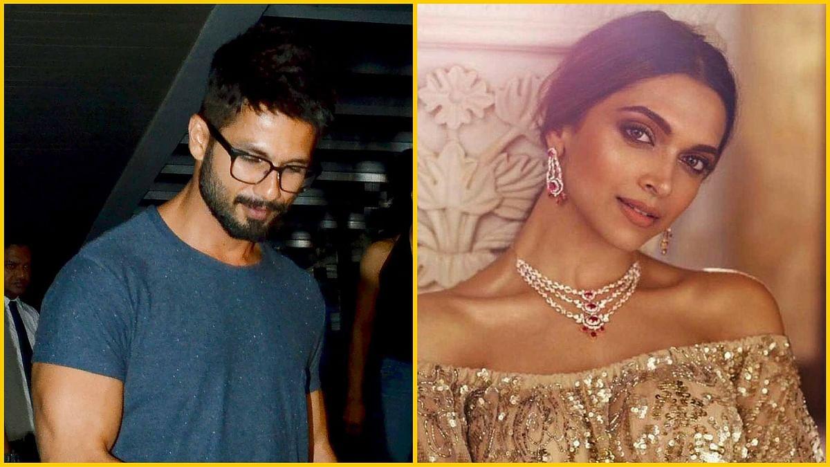 "Shahid Kapoor is rumoured to play Deepika's husband in <i>Padmavati</i>. [Photo Courtesy: Yogen Shah(L); YouTube/<a href=""https://www.youtube.com/watch?v=iUKHuDxXH00"">Tanishq</a> (R)]"