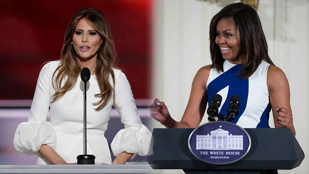 Melania Trump's RNC speech was slammed on social media for being a rip-off of Michelle Obama's speech from 2008. (Photo: AP)