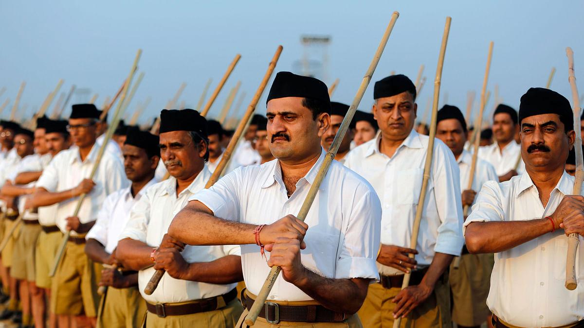 Volunteers of the Hindu nationalist organisation Rashtriya Swayamsevak Sangh (RSS)(Photo: Reuters)