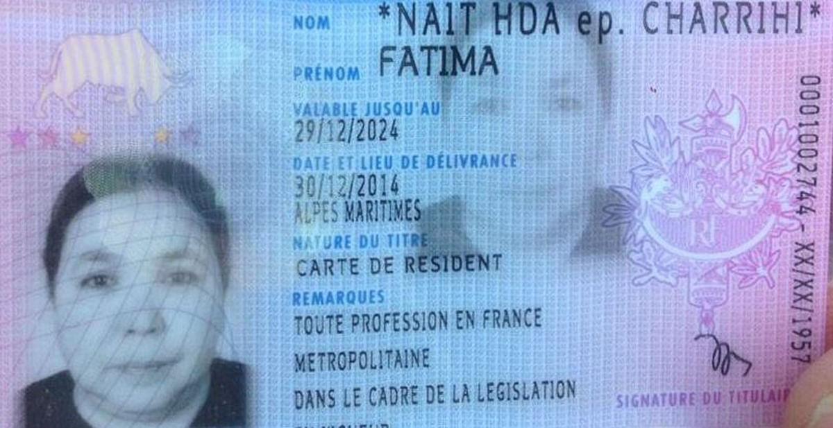 "Fatima Charrihi's french residency card. (Photo Courtesy: Twitter/<a href=""https://twitter.com/AAElazri/status/753967675630612481"">@AAElazri)</a>"