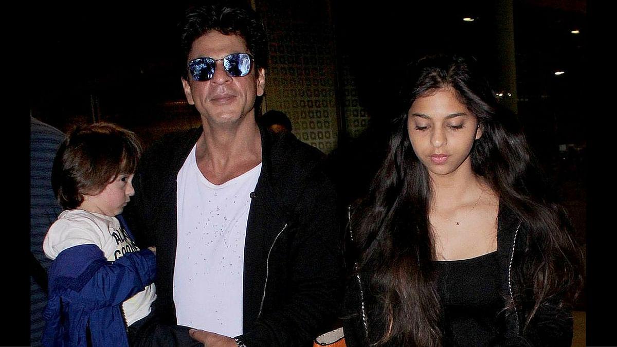 Shah Rukh Khan with Suhana and AbRam.