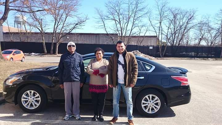 Kamalnayan Gavai, his wife Archana and son Chandan at Middle Island in the USA. (Photo Courtesy: Praful Vhatkar)