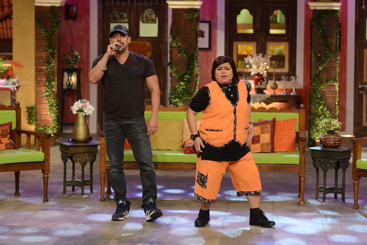 Bharti Singh and Salman Khan in the show. (Photo Courtesy: Colors PR Team)