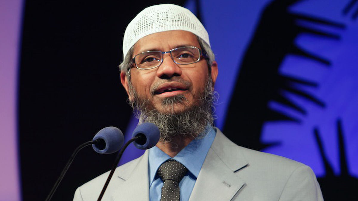 Zakir Naik.  (Photo Courtesy: The News Minute)