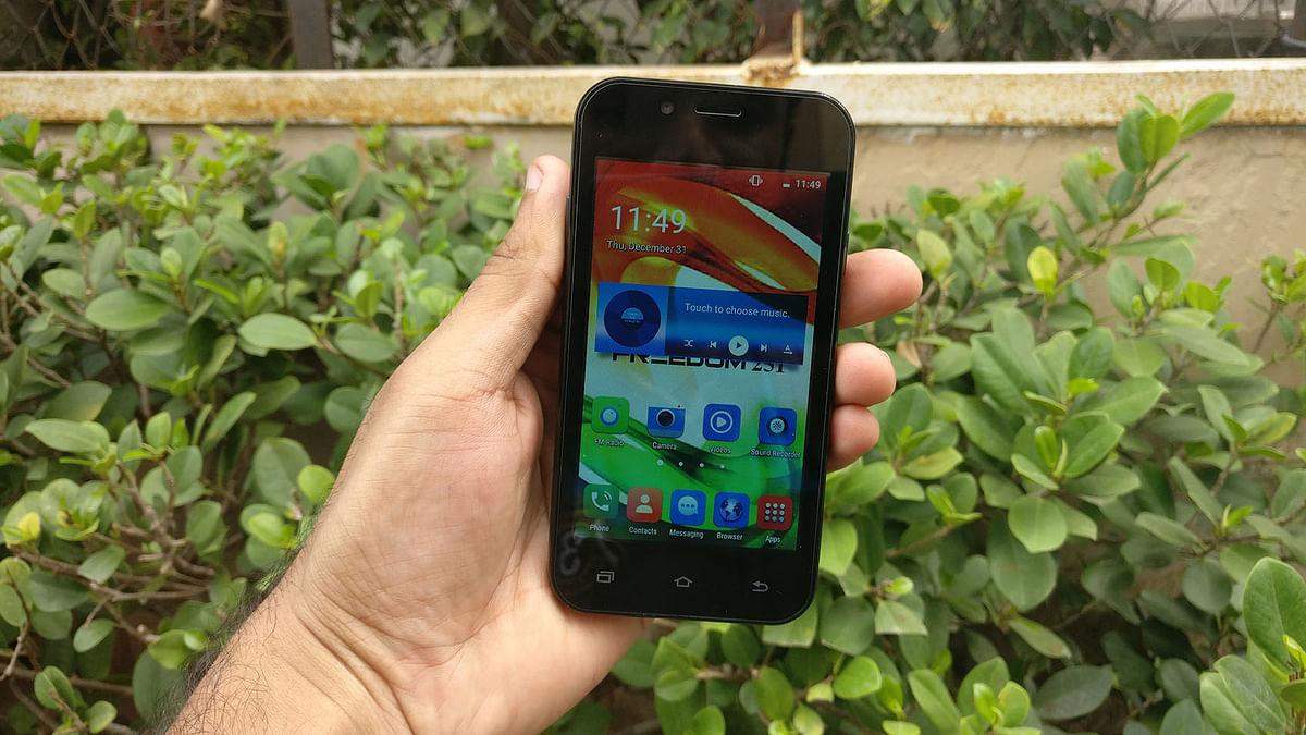 Ringing Bells Freedom 251 phone. (Photo: <b>The Quint</b>)