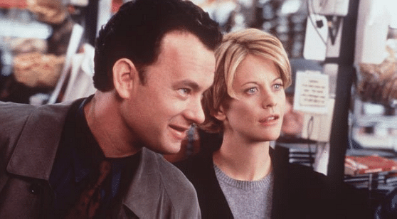 Meg Ryan andTom Hanks in <i>You've Got Mail</i>.