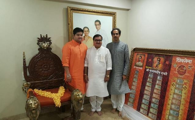 """Inside <i>Matoshree</i>, the residence of the Thackerays where, even today, no one sits on Bal Thackeray's chair. (Photo Courtesy: Twitter/<a href=""""https://twitter.com/NarendraSaxena4"""">Narendra Saxena</a>)"""