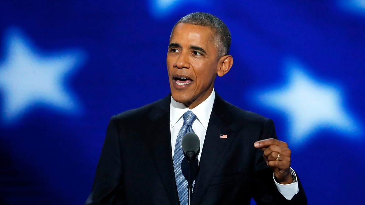 US President Barack Obama took the stage at the Democratic National Convention on Wednesday amid thunderous applause. (Photo: AP)