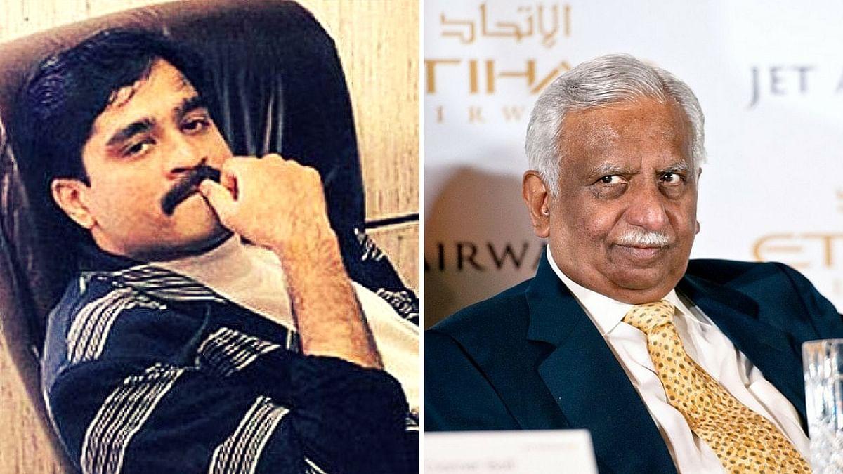 Underworld don Dawood Ibrahim (left) and Jet Airways promoter Naresh Goyal.