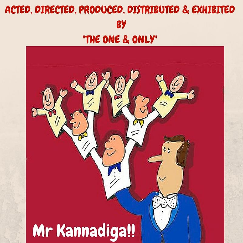 Kannada films are often a one man show-from action to direction to distribution of the film. (Photo: <b>The Quint</b>/Parul Agrawal)