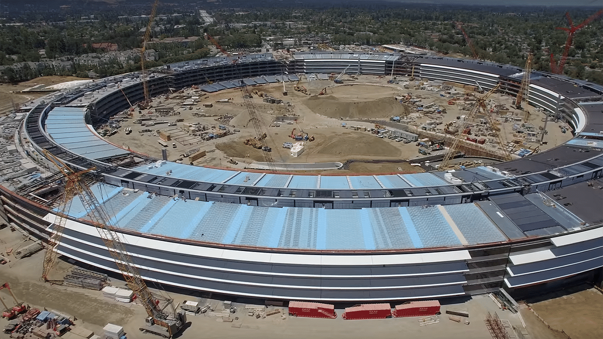Watch: Drone Footage of Apple's Nearly Complete Spaceship  Campus