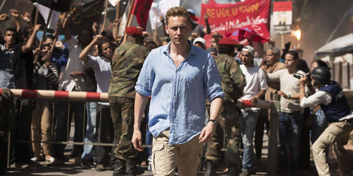 Tom Hiddleston in a still from the mini-series.