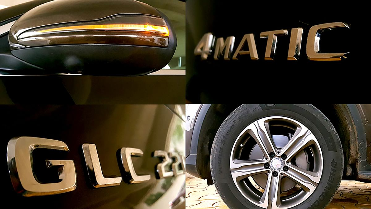 The 4MATIC badge on the Mercedes-Benz GLC 220d. (Photo: Motorscribes)