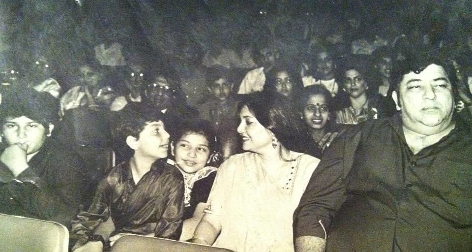 Amjad Khan with his wife and kids at a theatre (Photo: Shadaab Khan)