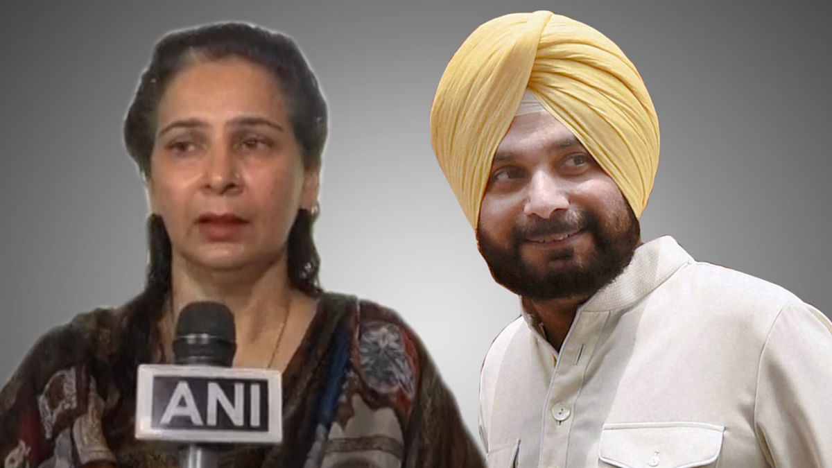 Navjot Singh Sidhu's wife Navjot Kaur confirmed on Tuesday that he has quit BJP. (Photo: altered by <b>The Quint</b>)