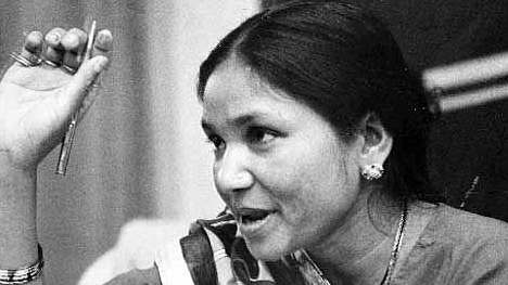 """Phoolan Devi was charged with 48 crimes, including 30 charges of dacoity (banditry) and kidnapping and remained in prison for 11 years. (Photo Courtesy: Twitter/<a href=""""https://twitter.com/search?f=images&amp;vertical=default&amp;q=phoolan%20devi&amp;src=typd'"""">@Venecia</a>)"""