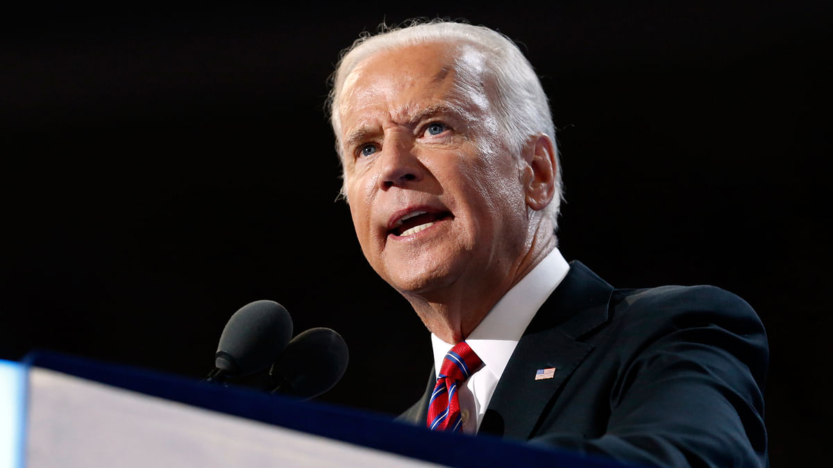 Vice President Joe Biden speaks during the third day session of the Democratic National Convention in Philadelphia. (Photo: AP)