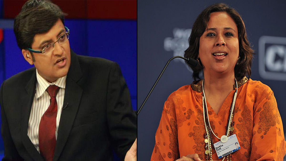For the first time, even Barkha Dutt, Arnab's former colleague, chose to respond to his bombast. (Photo: <b>The Quint</b>)