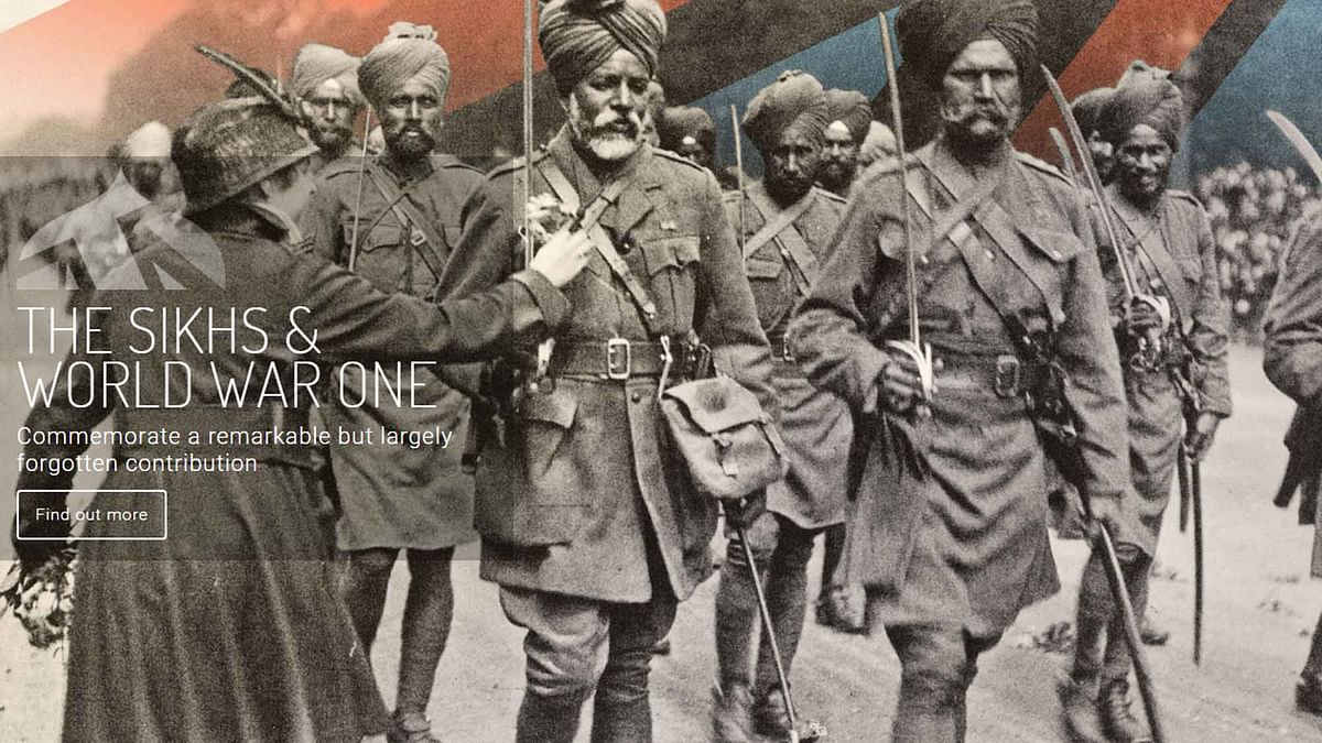 "Despite accounting for less than one percent of the population of India at that time, Sikhs made up nearly 20 percent of British Indian armed forces. (Screenshot Courtesy:  <i><a href=""http://www.empirefaithwar.com/page-6"">Empire, Faith &amp; War: The Sikhs and World War One</a>)</i>"