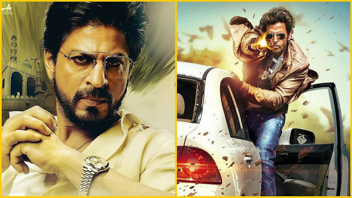 Shah Rukh Khan in a still from <i>Raees</i> and Hrithik Roshan from <i>Bang Bang</i>. (Photo Courtesy: Red Chillies Entertainment &amp; Excel Entertainment(L); Fox Star Studios(R))