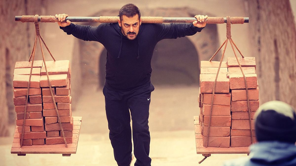 Salman Khan in a scene from <i>Sultan.</i>