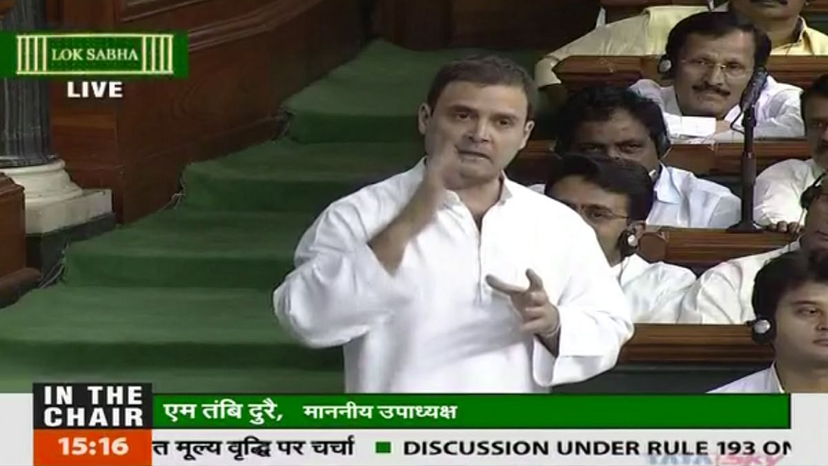 Congress Vice President Rahul Gandhi in the Lok Sabha on Thursday, 28 July 2016. (Photo Courtesy: LSTV)