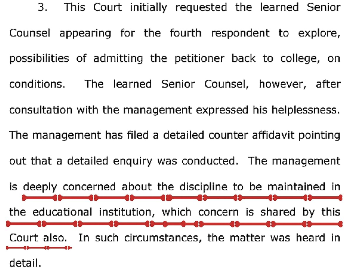 (Photo: Screenshot of an excerpt from the Kerala HC verdict)
