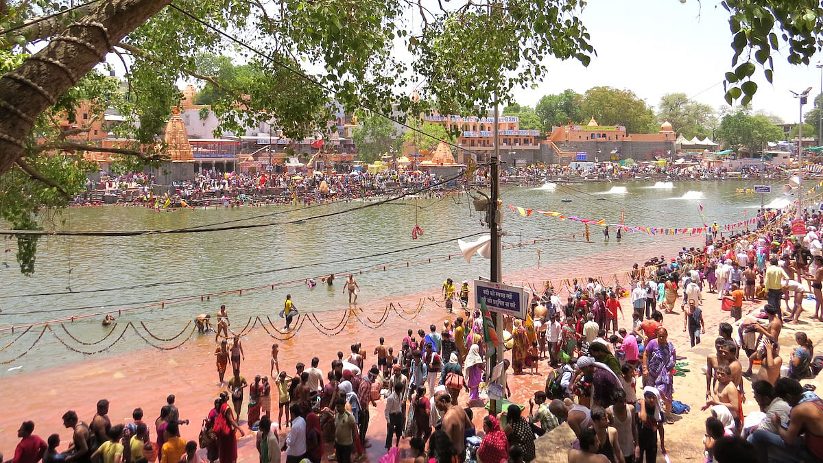 The ghats of Shipra during the Kumbh Mela in Ujjain. (Photo: Soumya Sarkar)