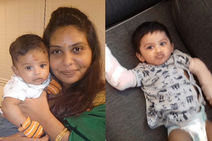 Manisha with her son Ibhan a few months ago; Ibhan in the hospital now. (Photo courtesy:  Praful Vhatkar)