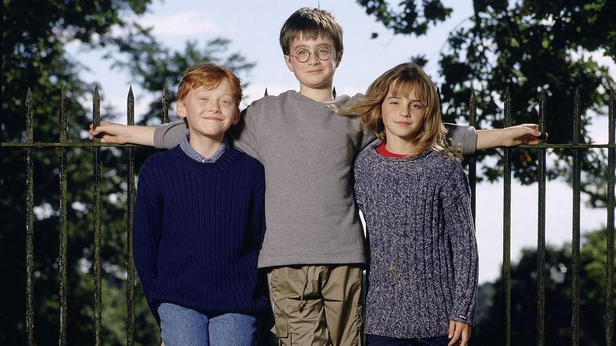 Rupert Grint, Daniel Radcliffe and Emma Watson.