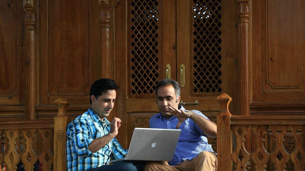 Asif Amin Tibet Baqual (L) and Suhail H Naqshbandi (R) of Blacksheep.Works. (Photo Courtesy: Blacksheep.Works)