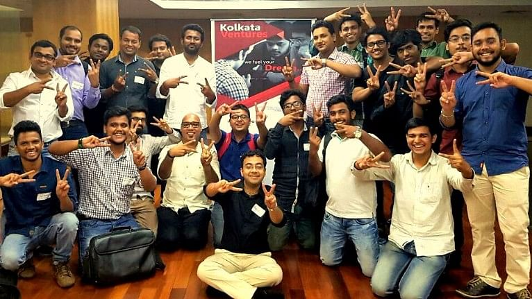 Startup enthusiasts at a Kolkata Ventures gathering. (Photo: Sujoy Dhar/ <b>The Quint</b>)