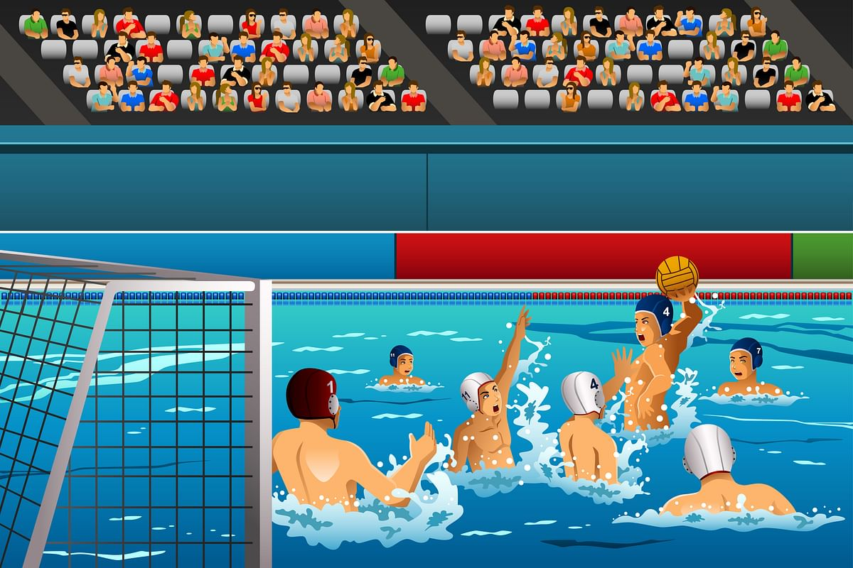 A water polo match.