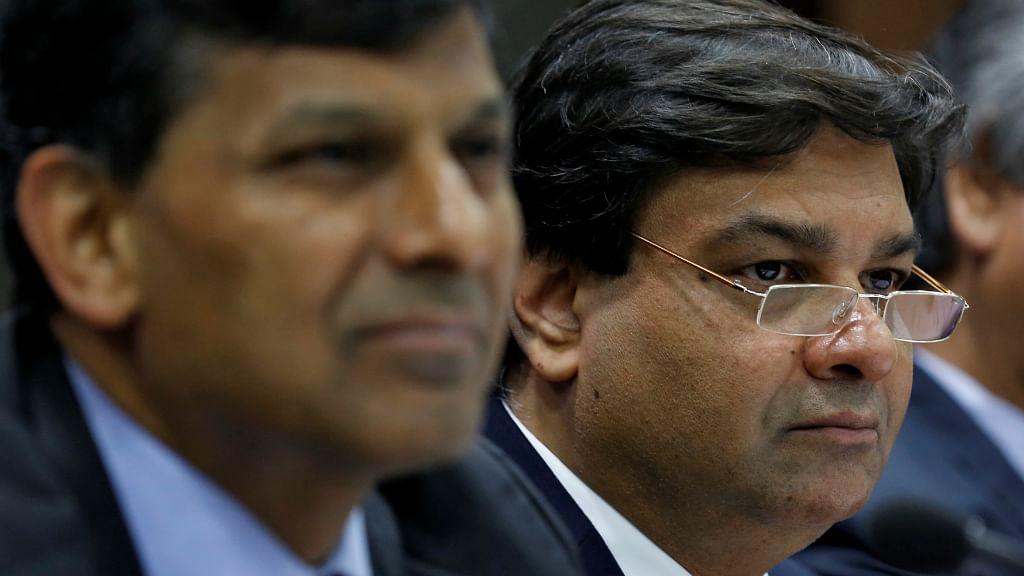 RBI governor Raghuram Rajan and his successor Urjit Patel.