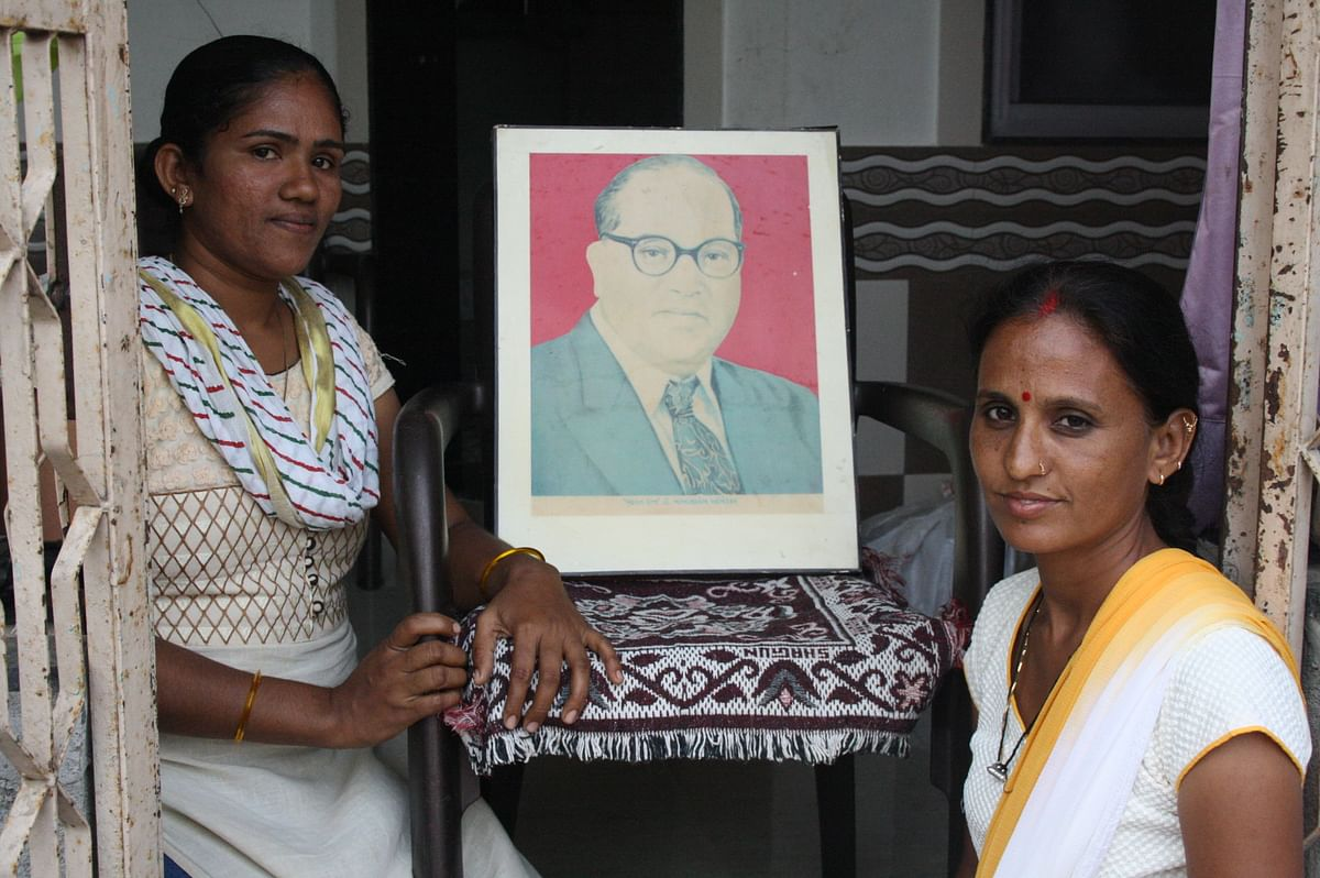 Ambedkar means different things to different Dalits - Gita (right) with her friend Jaya (left). (Photo Courtesy: Revati Laul)