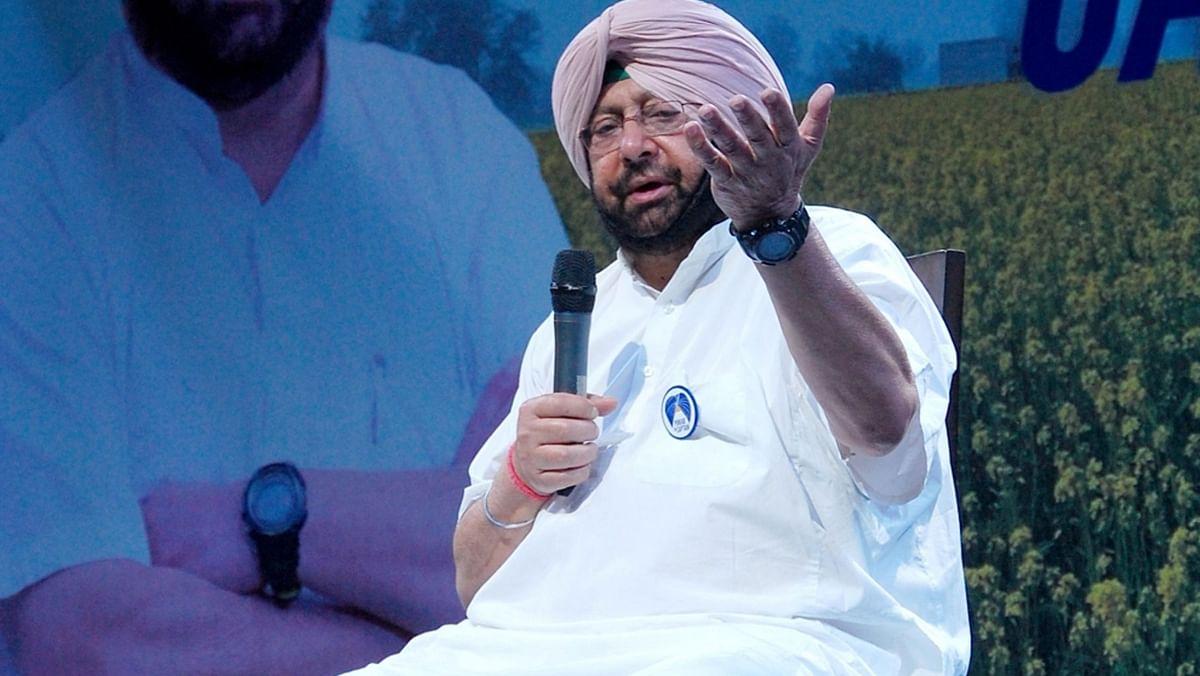 File photo of Congress' Amarinder Singh. (Photo: IANS)