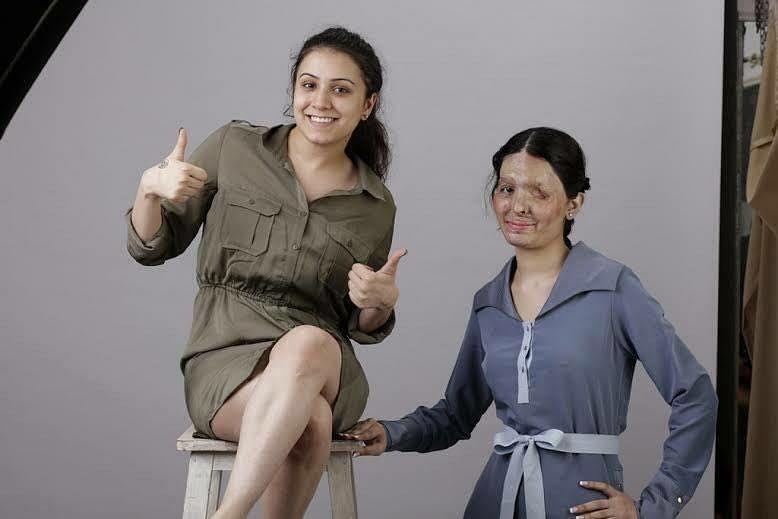 Ria Sharma, Founder and CEO, Make Love Not Scars with Reshma Qureshi (R). (Photo Courtesy: Ria Sharma)