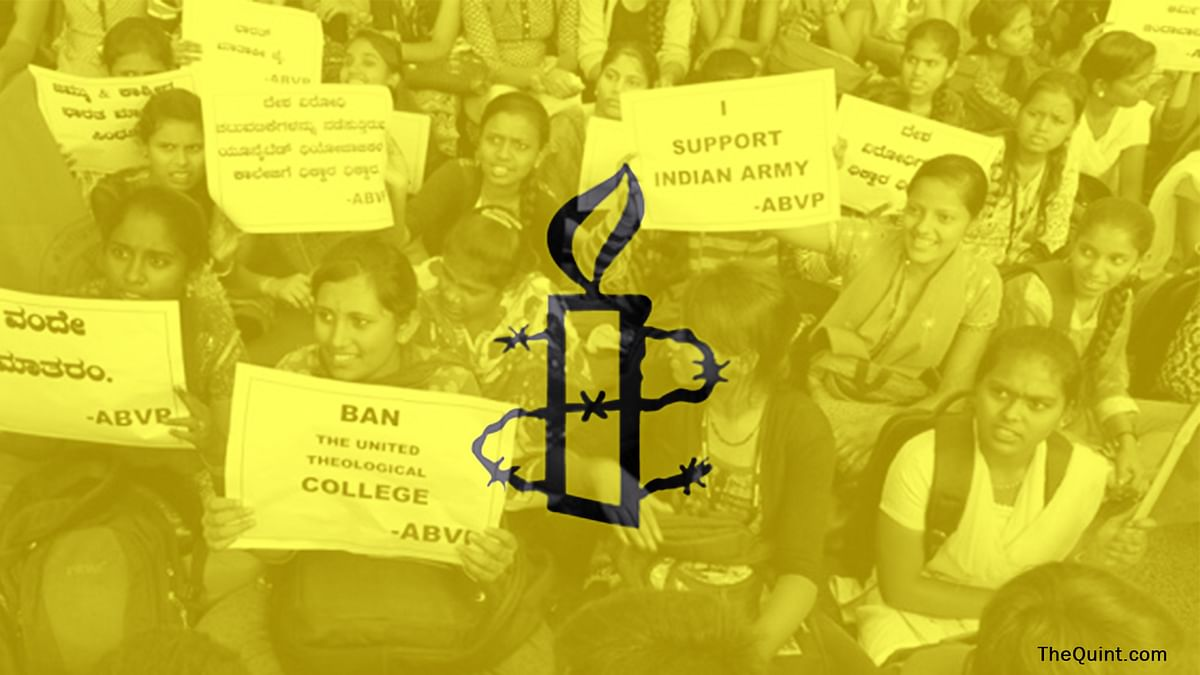 The political dynamics of Karnataka have an equal role to play, in the Amnesty row. (Photo: TNM/Image Altered by <b>The Quint</b>)