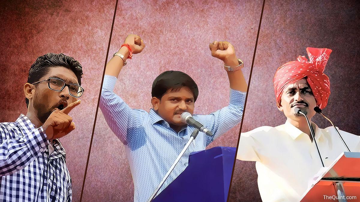 From left to right: Jignesh Melvani, Hardik Patel and Alpesh Thakore. (Photo: The Quint)