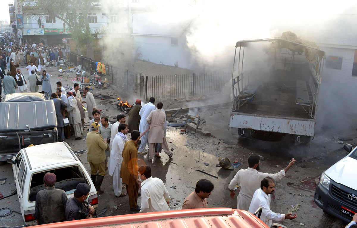 """A file  image of a bomb blast in the Baloch capital of Quetta. Pakistan has been blaming India for """"anti-peace""""  activities in Balochistan. (Photo: Reuters)"""