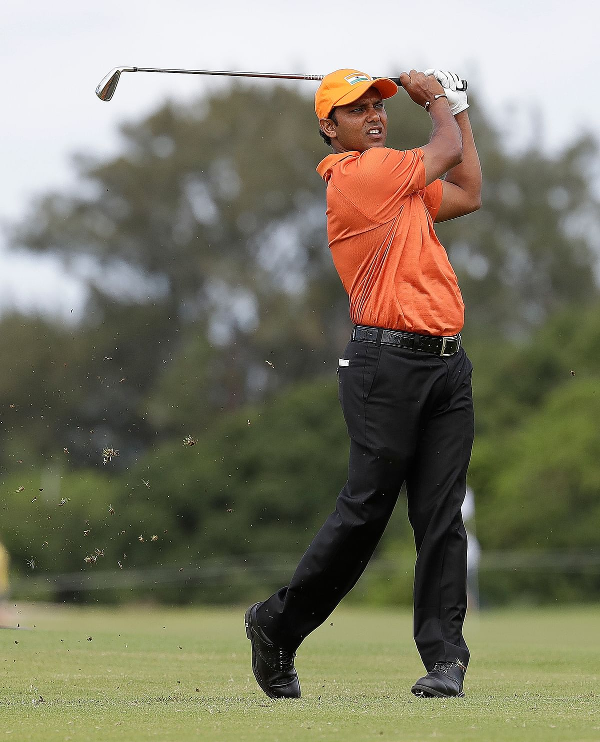 SSP Chawrasia during the opening round of Golf at the Rio Olympics. (Photo: AP)