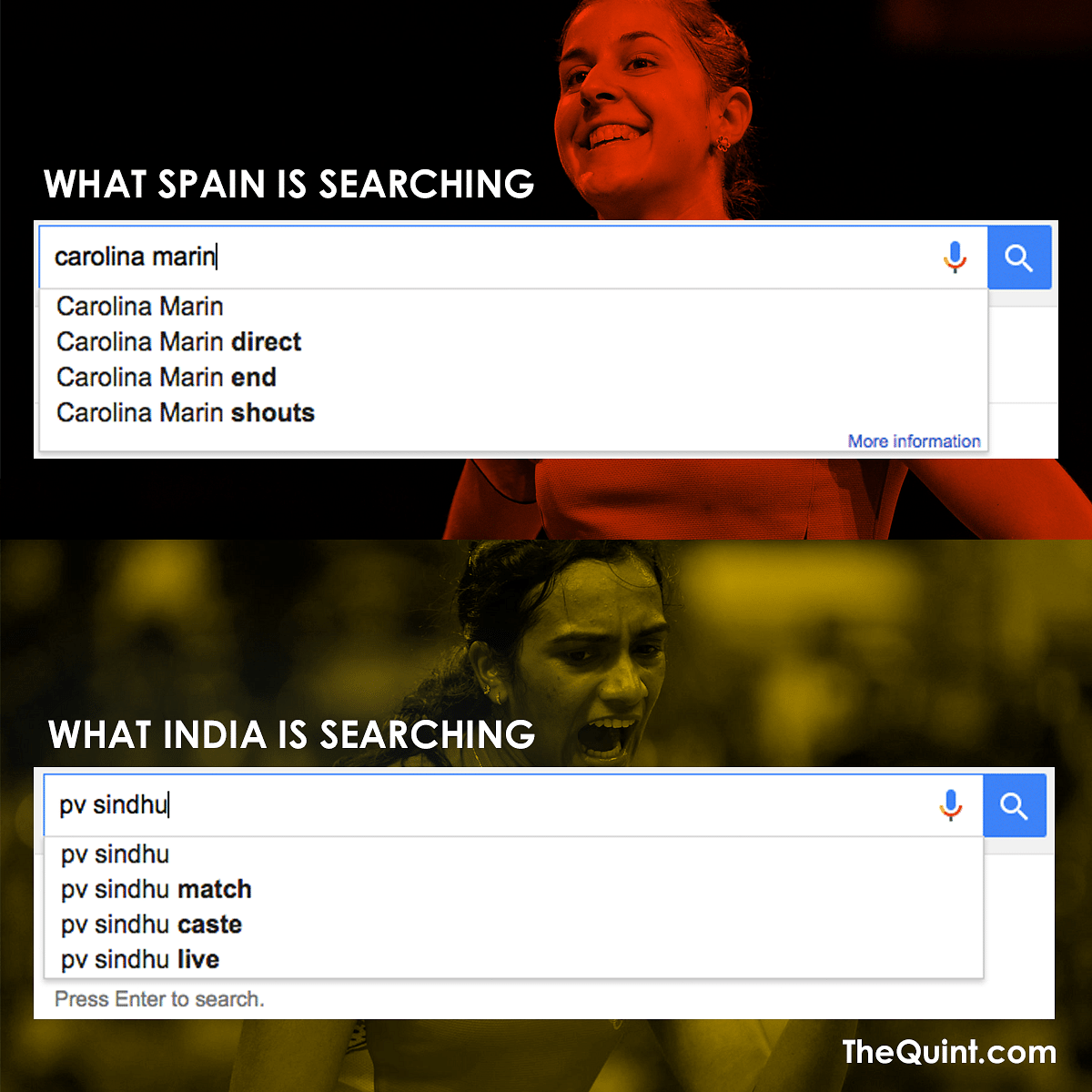 India v/s Spain (Design: Aaqib Raza Khan/<b>TheQuint</b>)