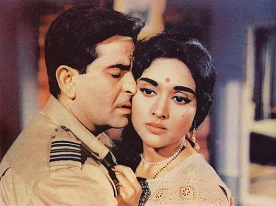 Vyjayanthimala with Raj Kapoor in a still from <i>Sangam</i>.&nbsp;