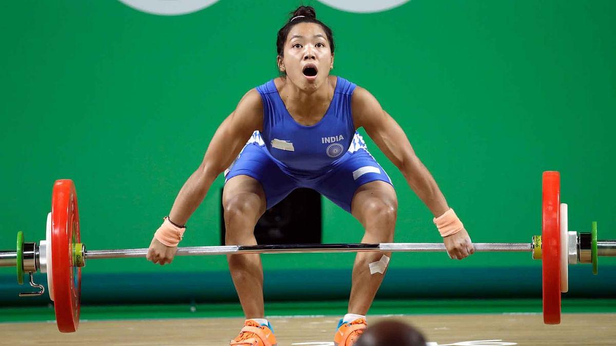Saikhom Mirabai Chanu during the 2016 Rio Olympics.