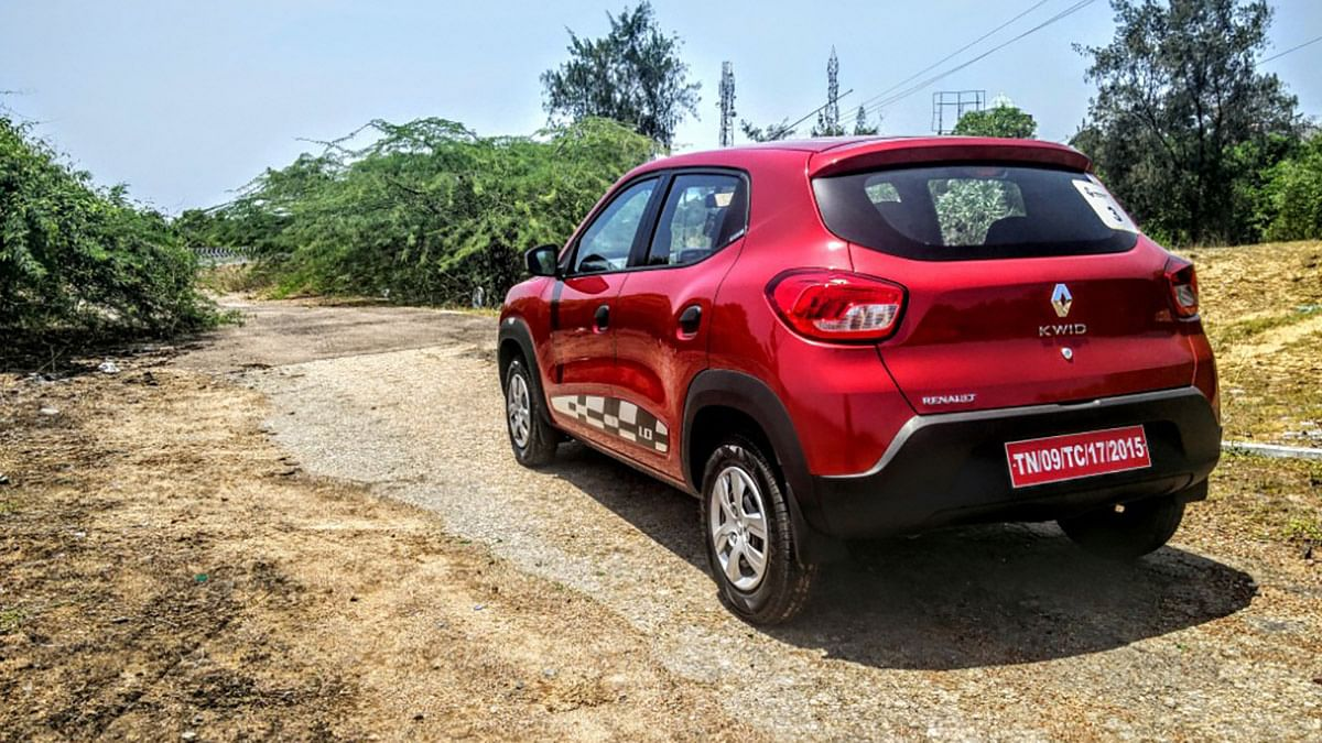 Rear side of the Renault Kwid 1.0-litre. (Photo Courtesy: Motorscribes)